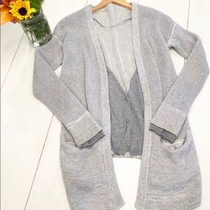 LULULEMON Vestigan Heathered Grey Sweater/Cardigan